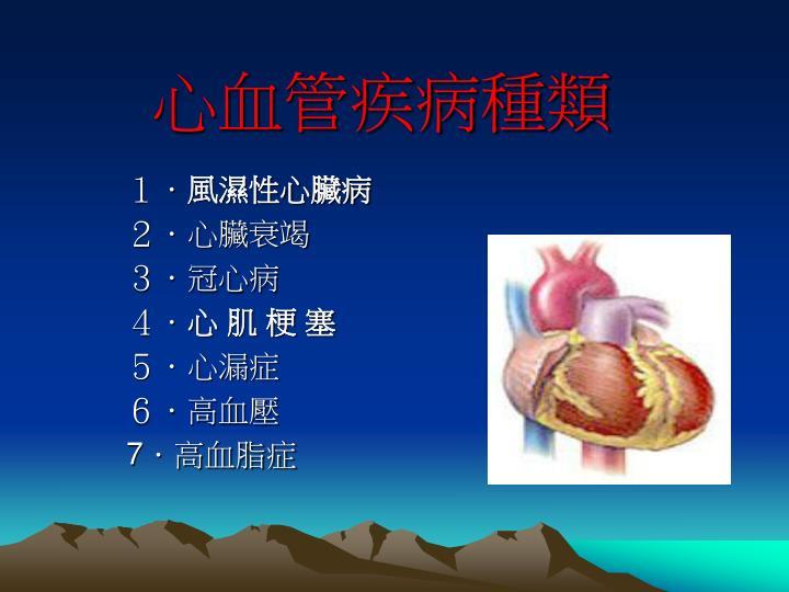 心血管疾病種類