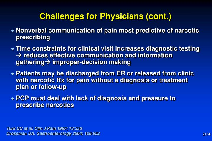 Challenges for Physicians (cont.)