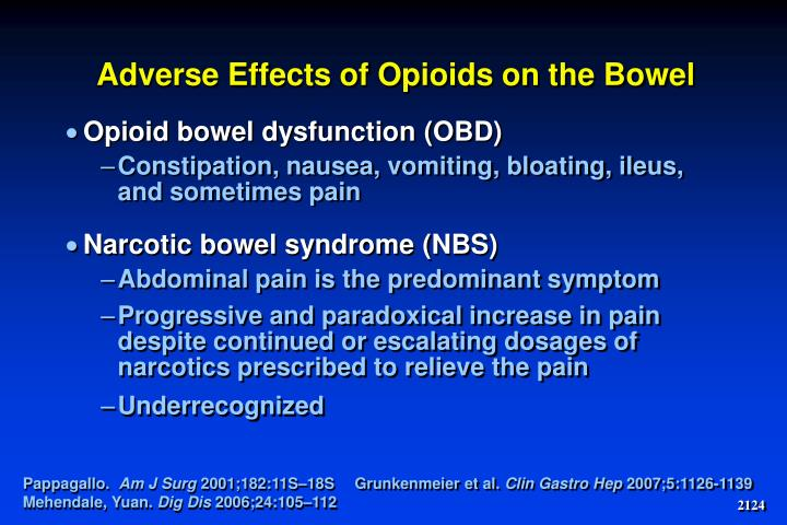 Adverse Effects of Opioids on the Bowel