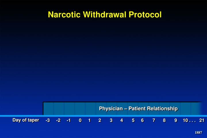 Narcotic Withdrawal Protocol