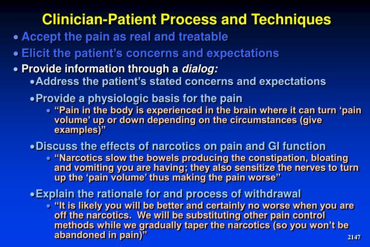 Clinician-Patient Process and Techniques
