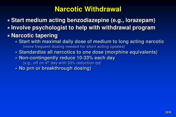 Narcotic Withdrawal