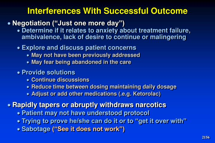 Interferences With Successful Outcome