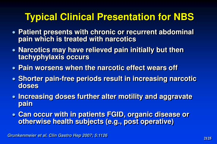 Typical Clinical Presentation for NBS