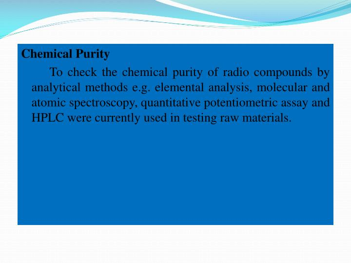 Chemical Purity