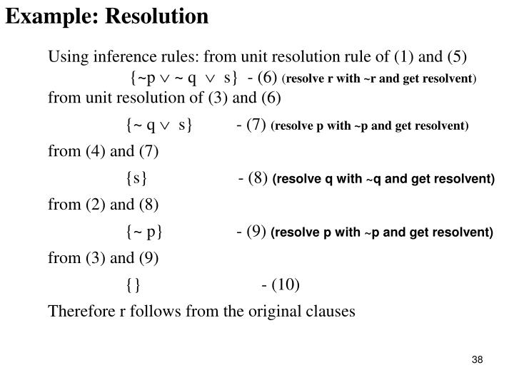 Example: Resolution