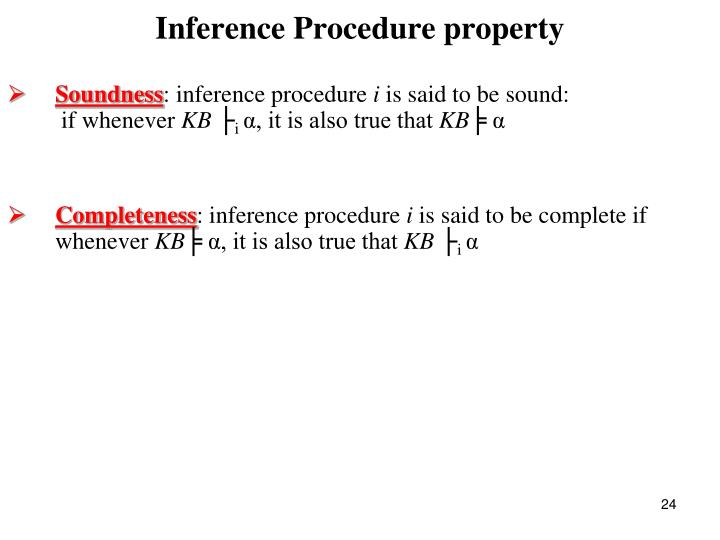 Inference Procedure property