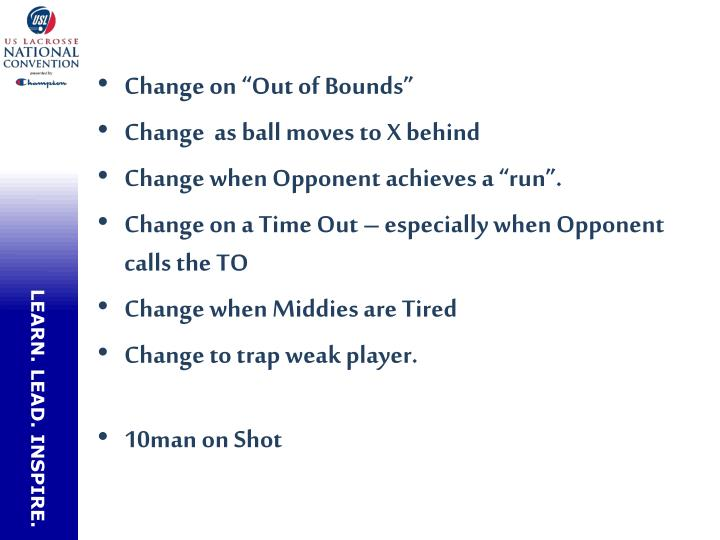 "Change on ""Out of Bounds"""