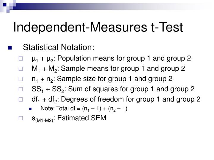 Independent-Measures t-Test