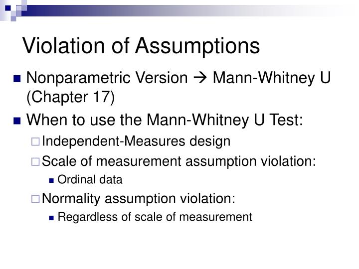 Violation of Assumptions