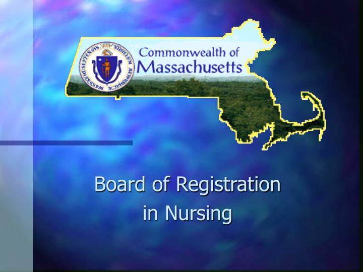 Board of registration in nursing