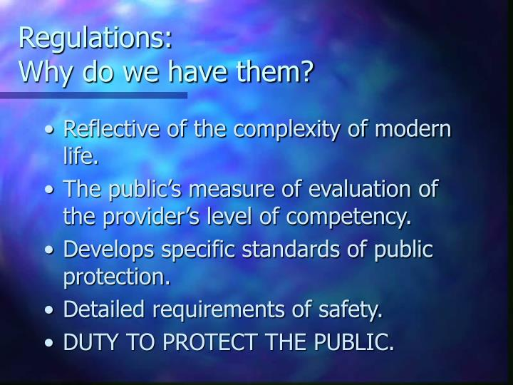 Regulations: