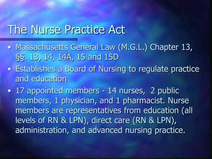 The Nurse Practice Act