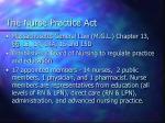 the nurse practice act