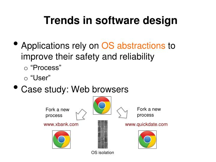 Trends in software d esign