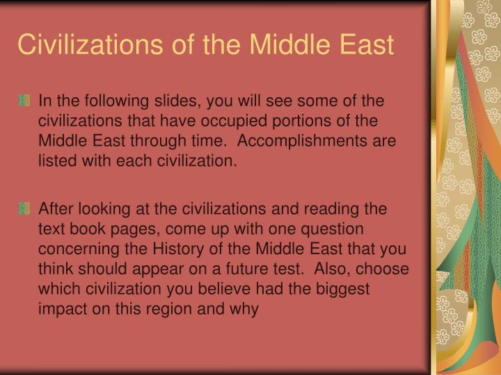 Civilizations of the Middle East