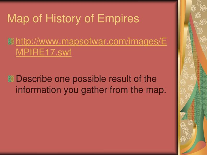 Map of History of Empires
