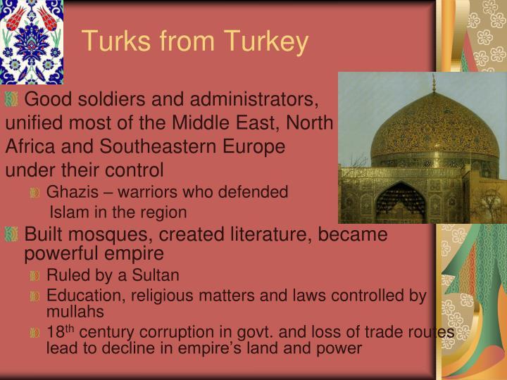 Turks from Turkey