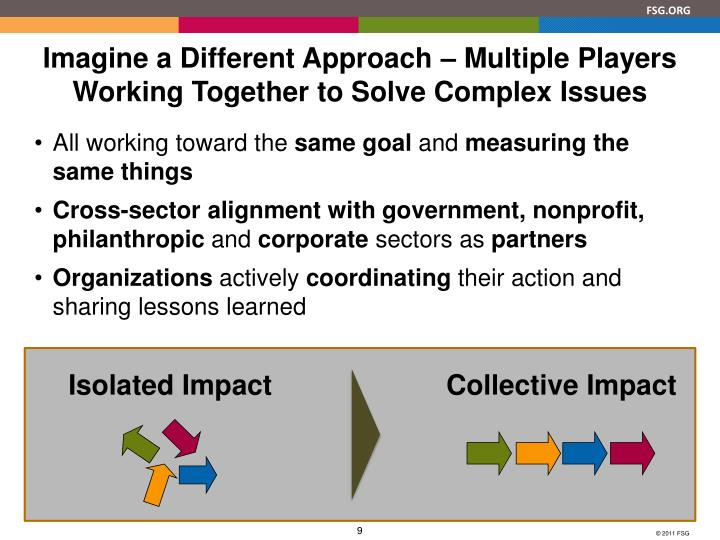 Imagine a Different Approach – Multiple Players Working Together to Solve Complex Issues