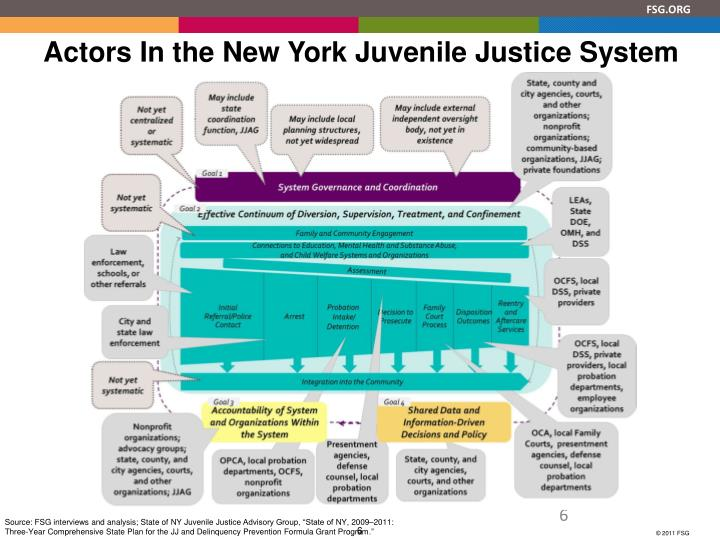 Actors In the New York Juvenile Justice System