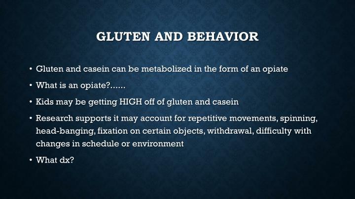 Gluten and behavior