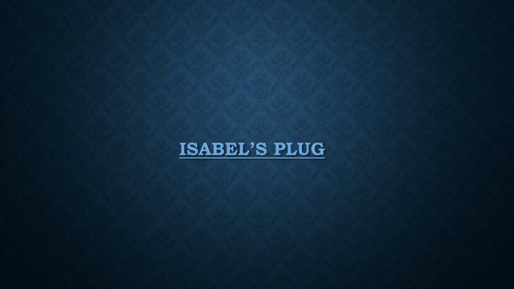Isabel's plug