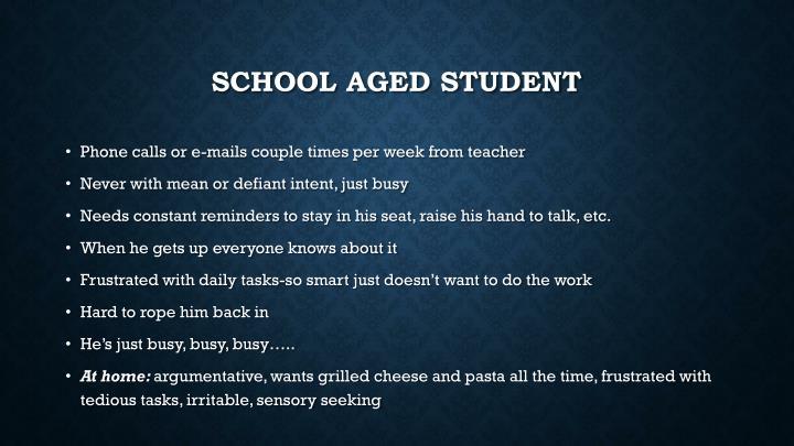 School aged student