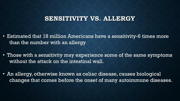 Sensitivity vs. allergy
