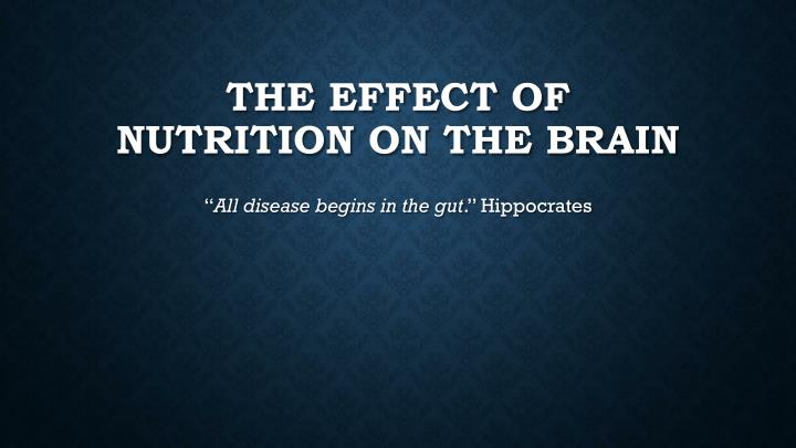 the effect of nutrition on the brain