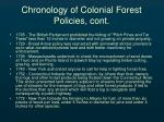 chronology of colonial forest policies cont