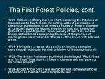 the first forest policies cont