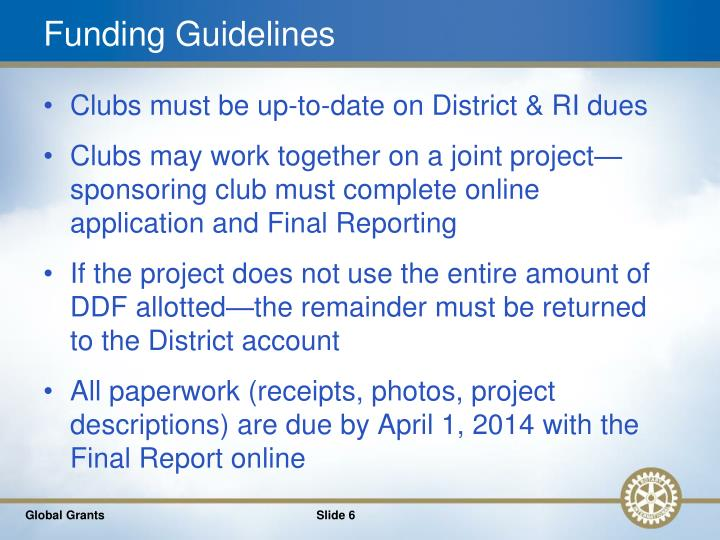 Funding Guidelines