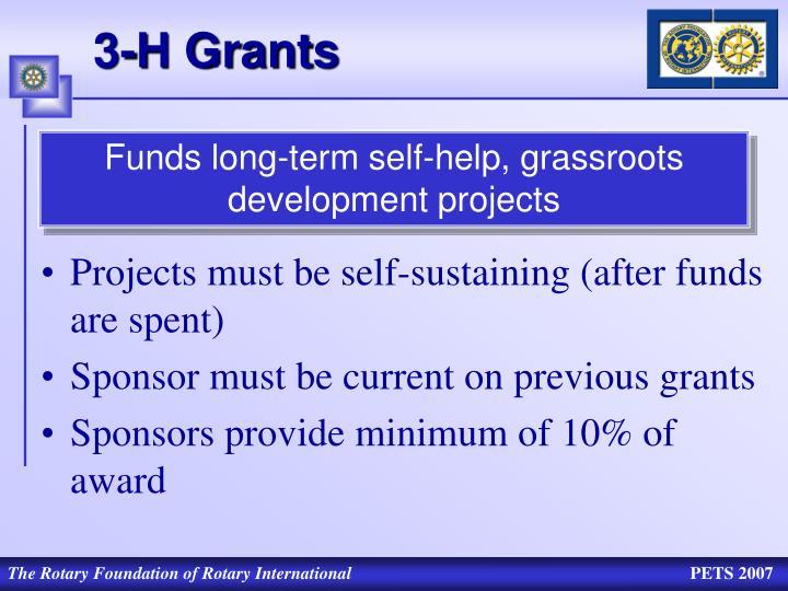 3-H Grants