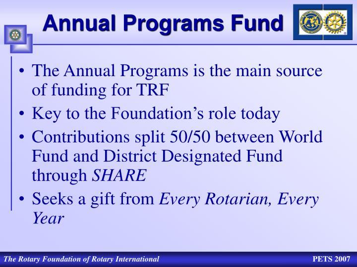 Annual Programs Fund
