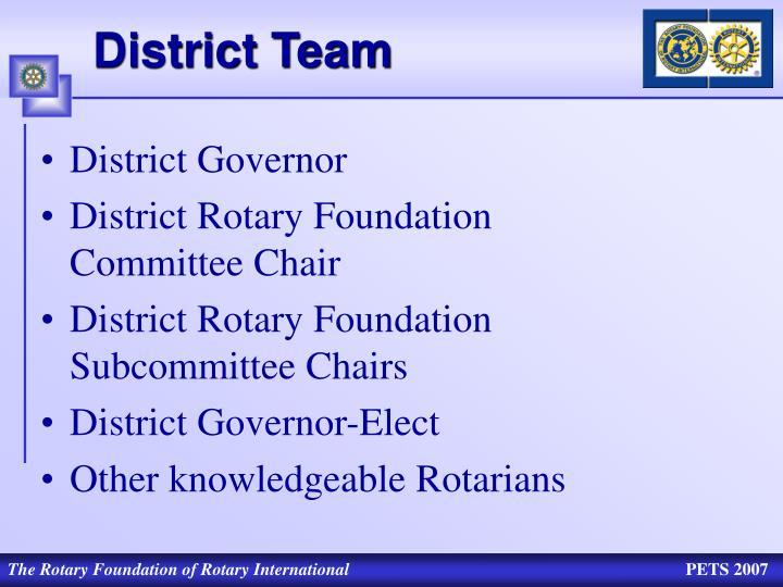 District Team