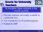 grants for university teachers