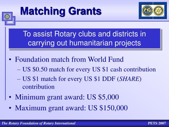 Matching Grants