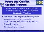 peace and conflict studies program