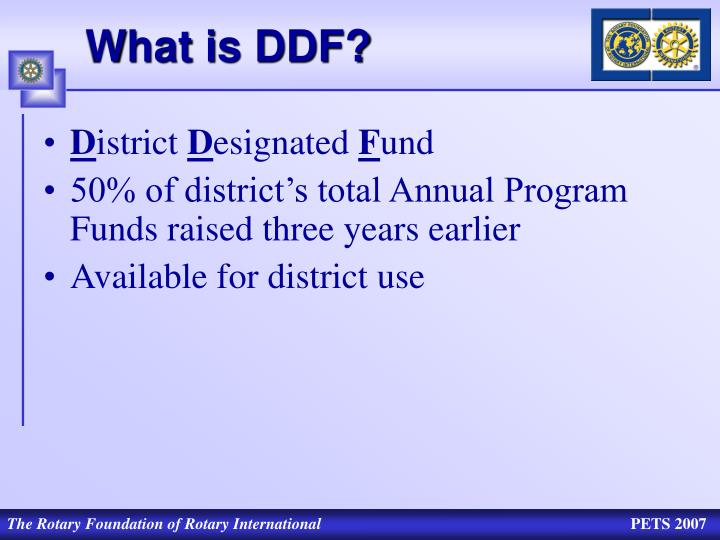 What is DDF?