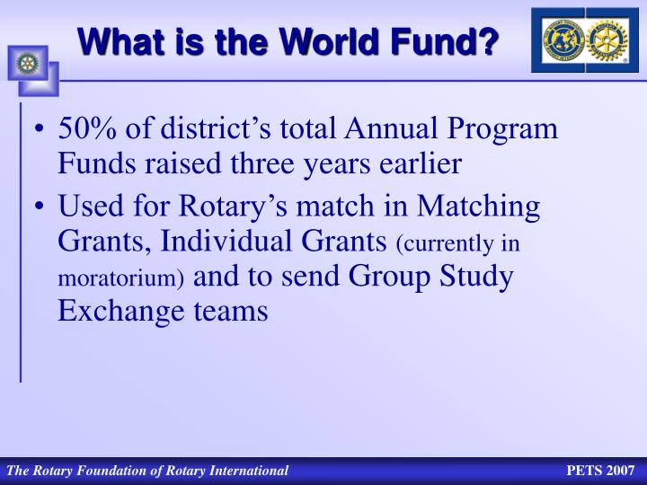 What is the World Fund?