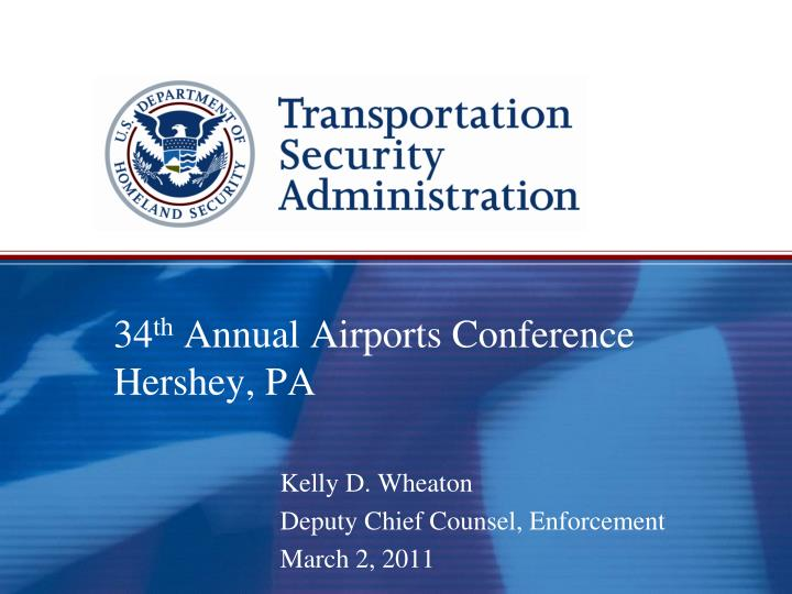 34 th annual airports conference hershey pa