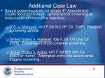 additional case law