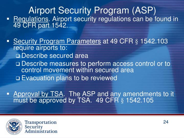 Airport Security Program (ASP)