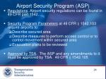 airport security program asp