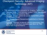 checkpoint security advanced imaging technology ait