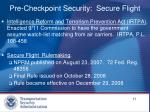 pre checkpoint security secure flight