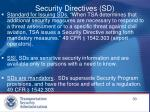 security directives sd