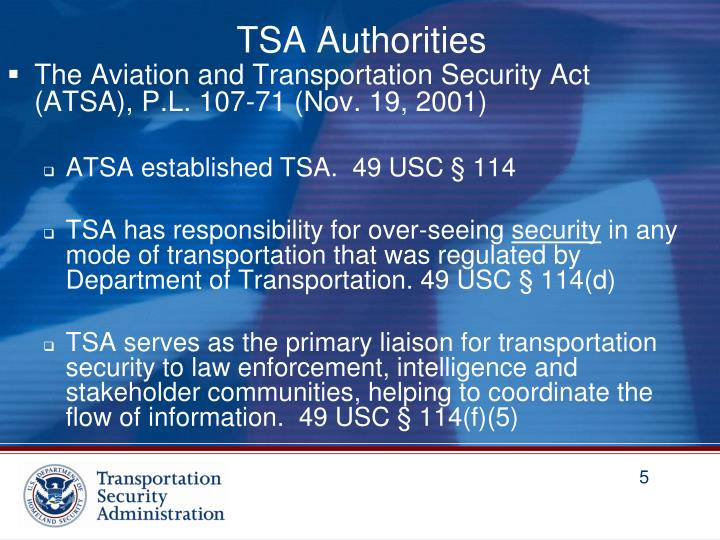 TSA Authorities