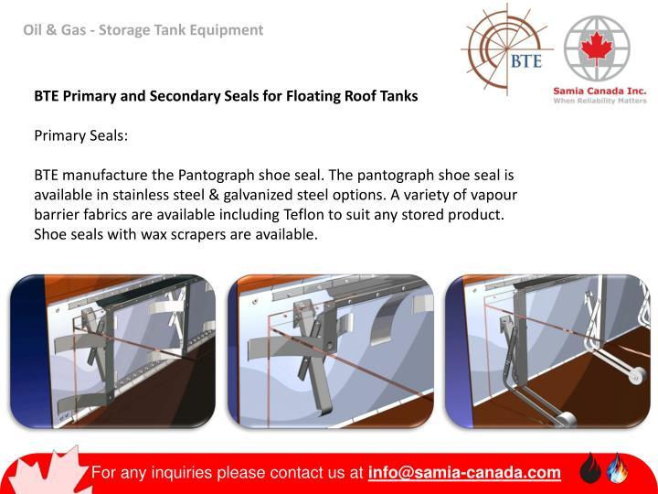 Oil & Gas - Storage Tank Equipment