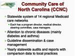 community care of north carolina ccnc